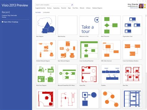 visio display the new visio start experience office blogs