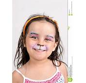 Face Painting Kitten Stock Image Of Colors Small