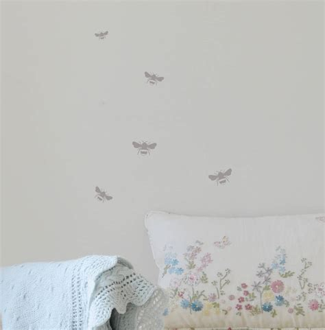 bee wall stickers mini bumble bee wall stickers by leonora hammond notonthehighstreet
