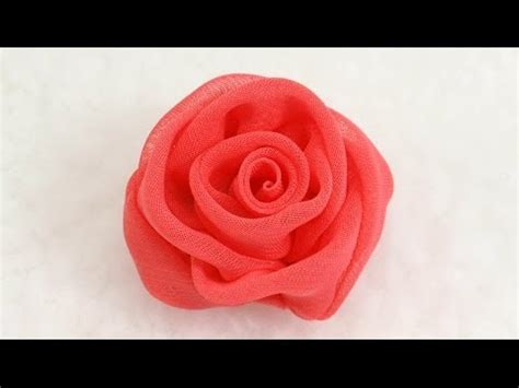 tutorial rose in organza diy how to make chiffon rose tutorial diy chiffon rose