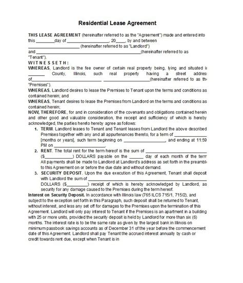rental agreement template 42 rental application forms lease agreement templates