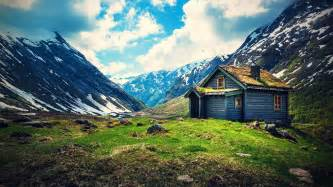 Small Desktop Free Small Wooden House On Mountain Wallpaper Free