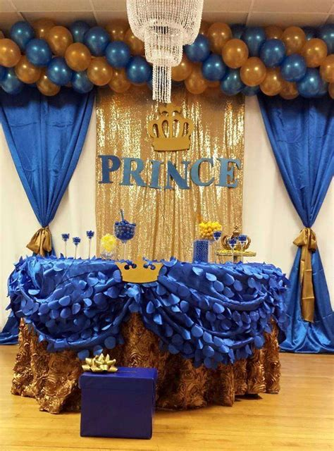 Royal Blue And Gold Baby Shower Decorations by Royal Blue Quot Prence Baby Shower Ideas Birthday