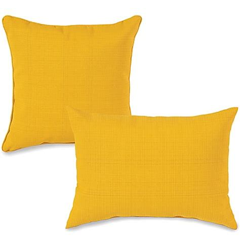 Yellow Bed Pillows | outdoor throw pillows in yellow bed bath beyond