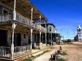 scenic of 1880 s ghost town murdo south dakota usa