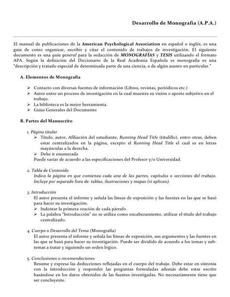 Ejemplo De Monografia | desarrollo de monografia
