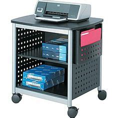 safco scoot desk side printer stand 1000 images about storage organization ideas on