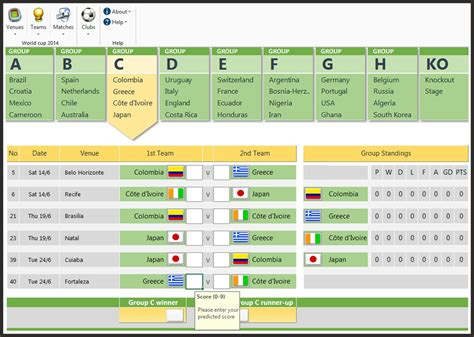 cool excel spreadsheet templates fifa 2014 world cup brazil predictions excel spreadsheet