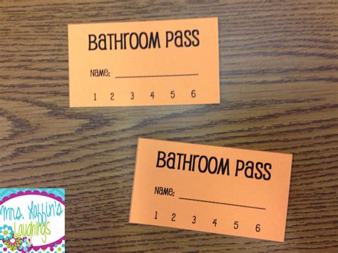 bathroom pass punch card 28 bathroom pass ideas bathroom pass images amp