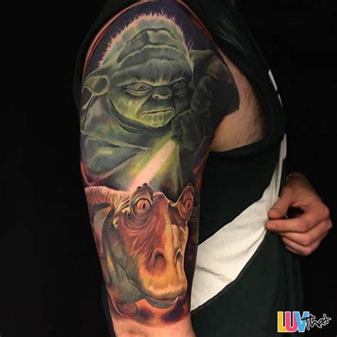 jar jar binks tattoo awesome wars tattoos luvthat