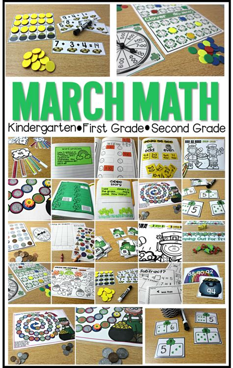 kindergarten activities march march math centers and more tunstall s teaching tidbits