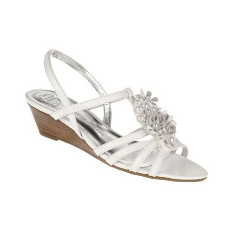 aigner sandals etienne aigner onna wedge sandals in white lyst