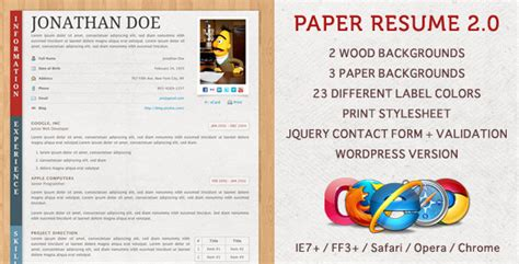 cvs resume paper free and premium resume templates
