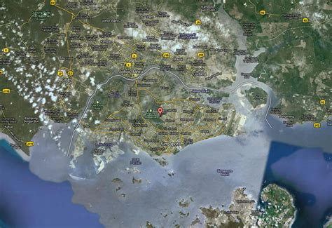 satellite map of singapore singapore map and singapore satellite image