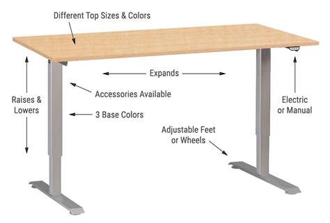 Standing Table Height by Standing Desks And Ergonomic Accessories Multitable