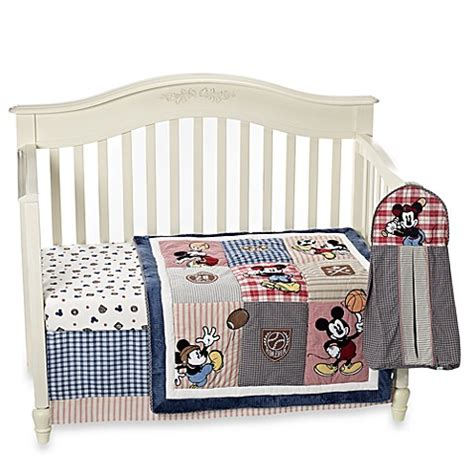 Kidsline Vintage Mickey Mouse 4 Piece Crib Bedding Set Mickey Mouse Crib Bedding