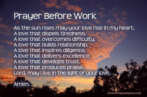 Work Pray morning prayer before work daily prayers