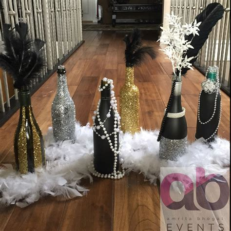 themed party lights a great gatsby theme decor sparkles bottles pearls