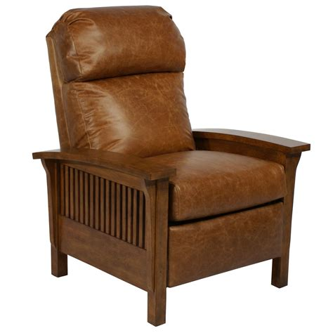 Leather Mission Style Recliner by Barcalounger Craftsman Ii Recliner Chair Leather
