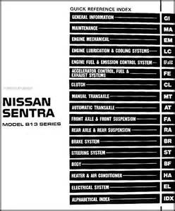 Nissan Sentra Repair Manual Free 1994 Nissan Sentra Repair Shop Manual Original