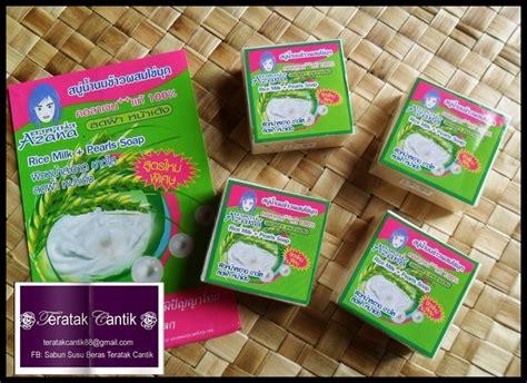 Sabun Beras Mutiara Original Pearl Sabun Beras Thailand teratak cantik sabun beras mutiara