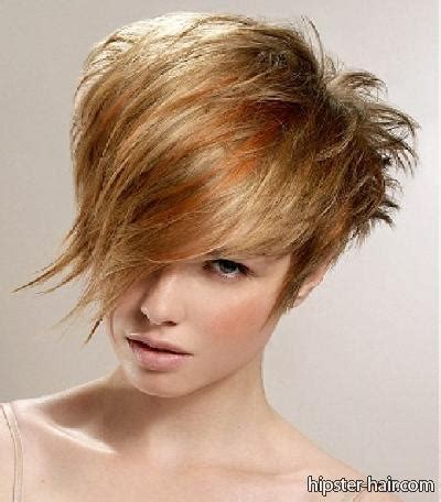 short piecey pixie hairstyle short pixie copper messy spiky long fringe