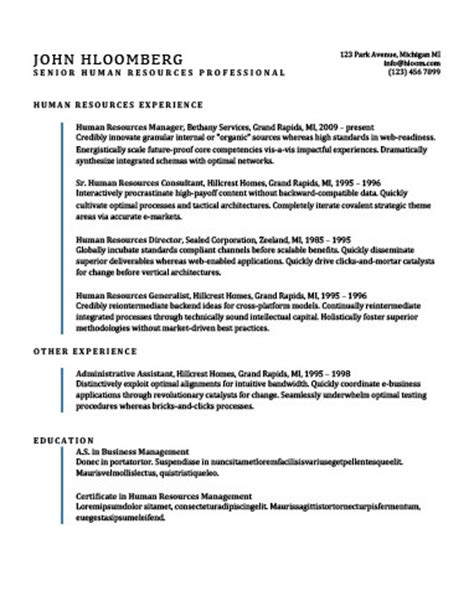 Resume Template Lines by Simple Resume Templates 75 Exles Free