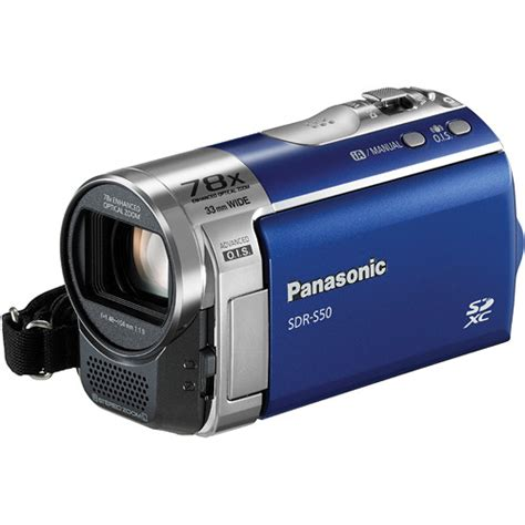 Advance S50a panasonic sdr s50 standard definition camcorder blue sdr s50a