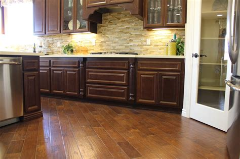 Red Kitchen Backsplash Ideas by Painted Hardwood Floors For Colorful Nature Element