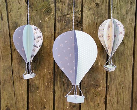 How To Make Paper Air Balloons - 3d air balloons with printable template the craft