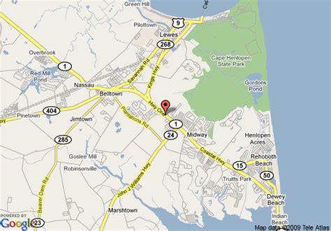 Comfort Inn Coastal Highway Map Of Comfort Inn Rehoboth Beach Rehoboth Beach