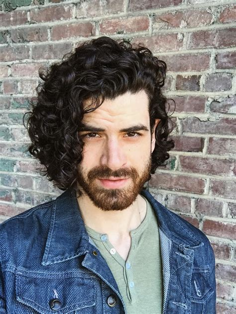 male curly hair inspiration medium length hair