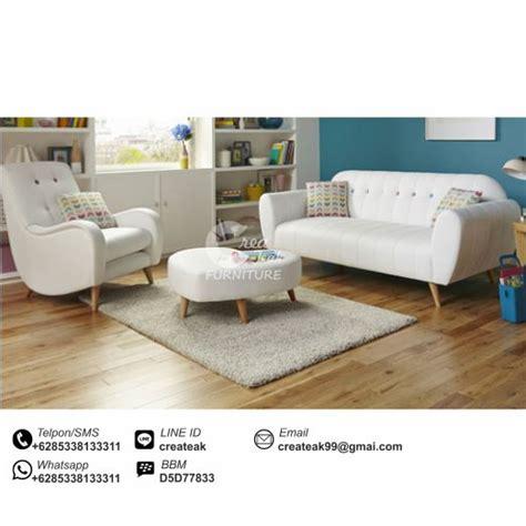 Set Sofa Tamu Retro 31meja Kursi Tamu Minimalis Sofa Malas Stool sofa tamu set retro minimalis createak furniture