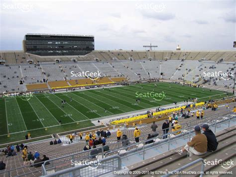 notre dame stadium sections notre dame stadium section 117 seat views seatgeek