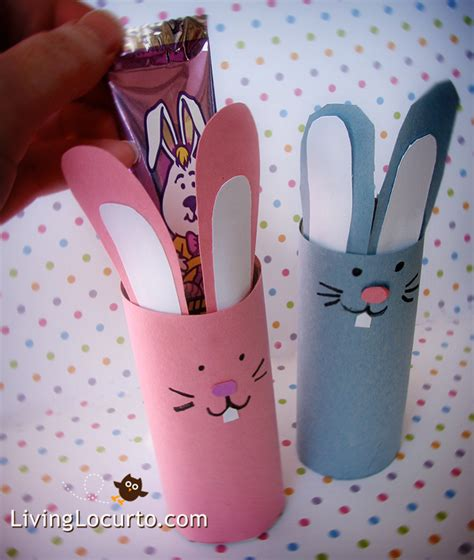 Bunny Toilet Paper Roll Craft - easter paper crafts for toilet paper roll craft