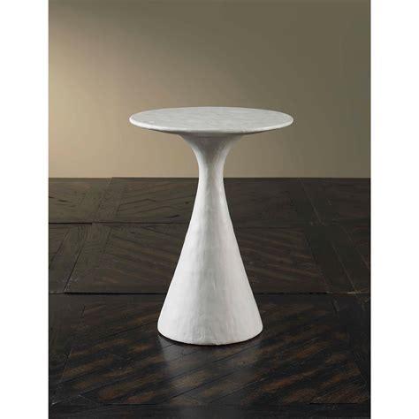 modern pedestal end table ella modern ivory pedestal end table kathy kuo home