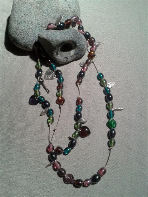beaded necklaces etsy wrap around beaded charm necklace by ditsydaisyuk on