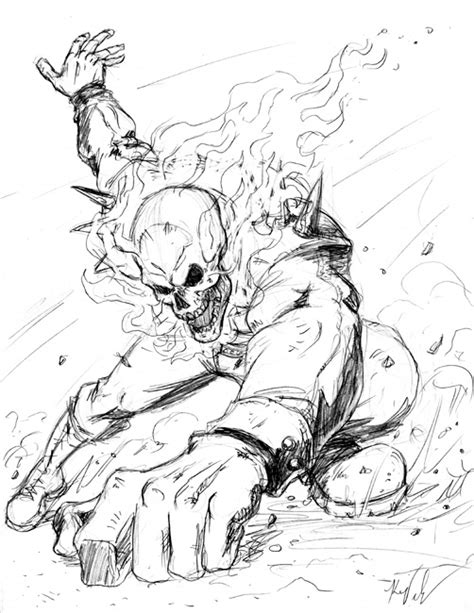 ghost rider 2 coloring pages how to draw ghost rider 2