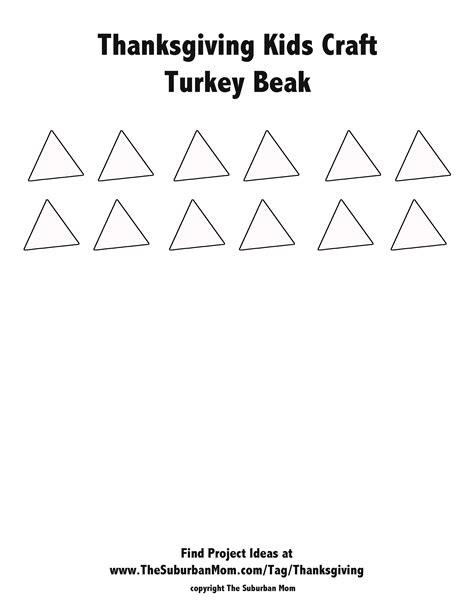 Printable Turkey Beak | thanksgiving kids craft handprint turkey crown the