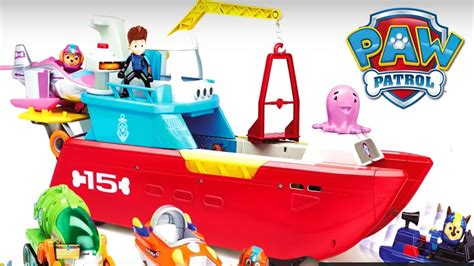 paw patrol boat rescue new paw patrol toys 2017 sea patroller life size lookout