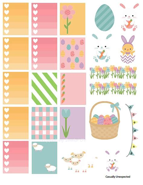 free printable easter planner 547 best hp ec stickers holidays images on pinterest