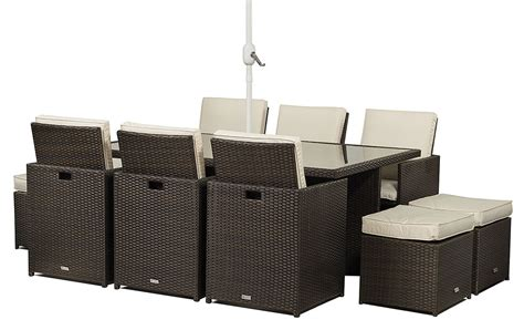 6 seat patio table and chairs rattan garden furniture cube 6 seat table and chair set