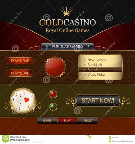 online casino web template elements royalty free stock