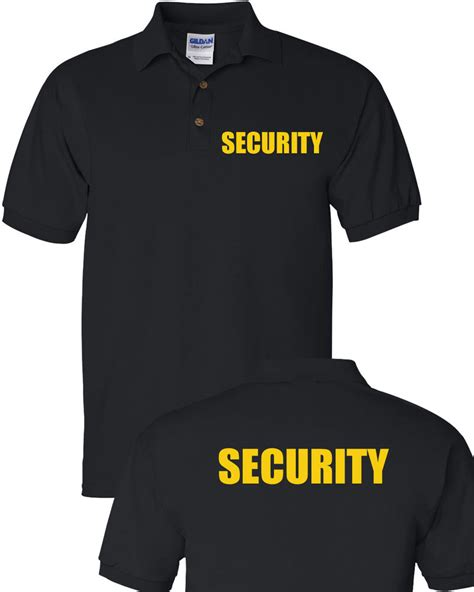 Polo T Shirt Kaosbaju Scurity security polo t shirt bouncer event staff