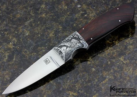 lum knives engraved bob lum ironwood drop point