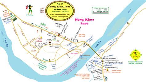 nong khiaw  small town   road  north luang prabang