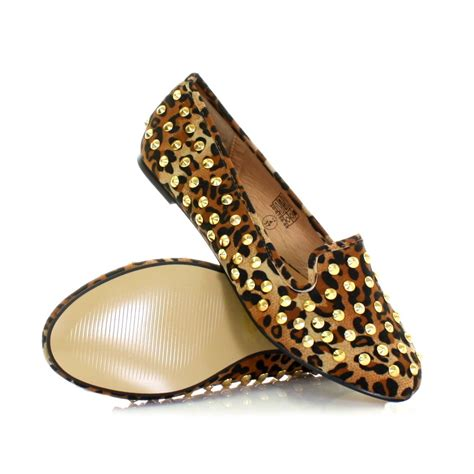 studded loafer flats womens studded flat suede style slipper loafer ballet