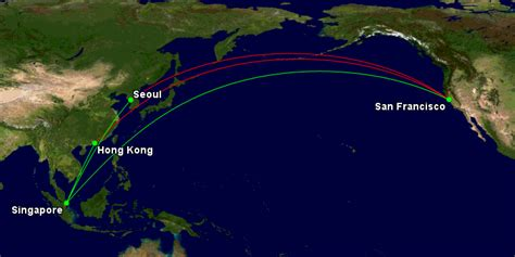 san francisco to hong kong map singapore airlines changes three routes from october