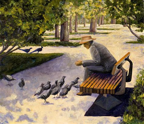 park bench art park bench painting by sandra bryant