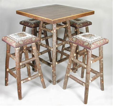 Log Pub Table And Stools by 32 Quot Pinecone Pub Set With 2 Stools The Log Furniture Store